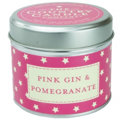 Pink Gin And Pomegranate Candle In A Tin